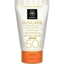 Apivita Suncare Anti-Spot Face Cream Tinted με χρώμα Sea Fennel & 3D Pro-Algae SPF50 50ml
