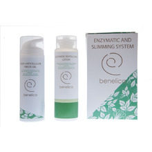 BENELICA ENZYMATIC AND SLIMMING SYSTEM, ENZYMATIC REVITALIZING LOTION 150ml +BODY ANTICELLULITE FREEZE GEL 200 ml