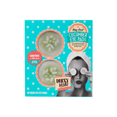 DIRTY WORKS STAY COOL CUCUMBER EYE PADS 10pairsx8ml