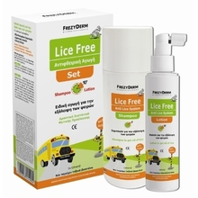 FREZYDERM LICE FREE SET SHAMPOO + LOTION (2X125ML)