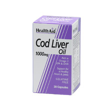 HEALTH AID COD LIVER OIL 1000MG 30CAP