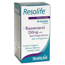 HEALTH AID RESOLIFE 250MG 60CAP