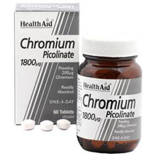 HEALTH AID CHROMIUM PICOLINATE 200MG 60T