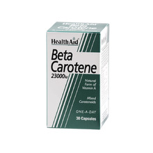 HEALTH AID BETA CAROTENE 15MG 30CAP