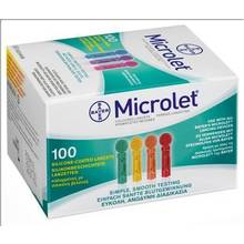 ASCENSIA MICROLET 100 LANCETS COLORED