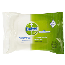 DETTOL ΑΝΤΙΣΗΠΤΙΚΑ ΥΓΡΑ ΜΑΝΤΗΛΑΚΙΑ 15ΤΕΜ