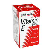 HEALTH AID NATURAL VIT.E 600IU 60TAB
