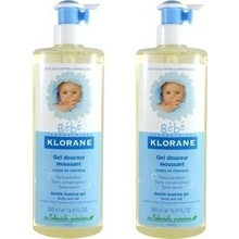 KLORANE BEBE DUO GEL DOUCEUR+GEL DOUCH. 2 x 500ml -50% στο 2ο προιόν