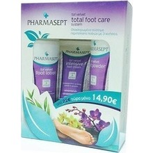 PHARMASEPT TOL VELVET TOTAL FOOT CARE SYSTEM 3 TEM INTENSIVE FOOT CREAM 75ML + FOOT LOTION 100ML + FOOT POWDER 70ML