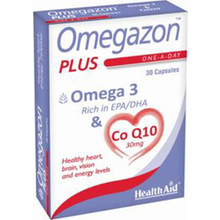 HEALTH AID OMEGAZON PLUS (Ω3 + CoQ10) 30CAPS