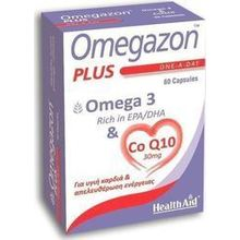 HEALTH AID OMEGAZON PLUS (Ω3 + CoQ10) 60CAPS